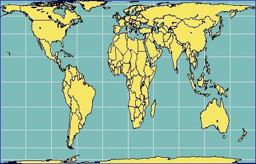 Gall Peters Projection World Map.The Gall Peters Misapprehension